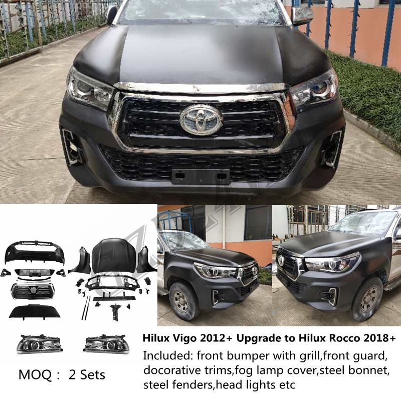 china latest news about HOT!!!Toyota Hilux Vigo Facelift Front Body Kits Convert To Hilux Rocco
