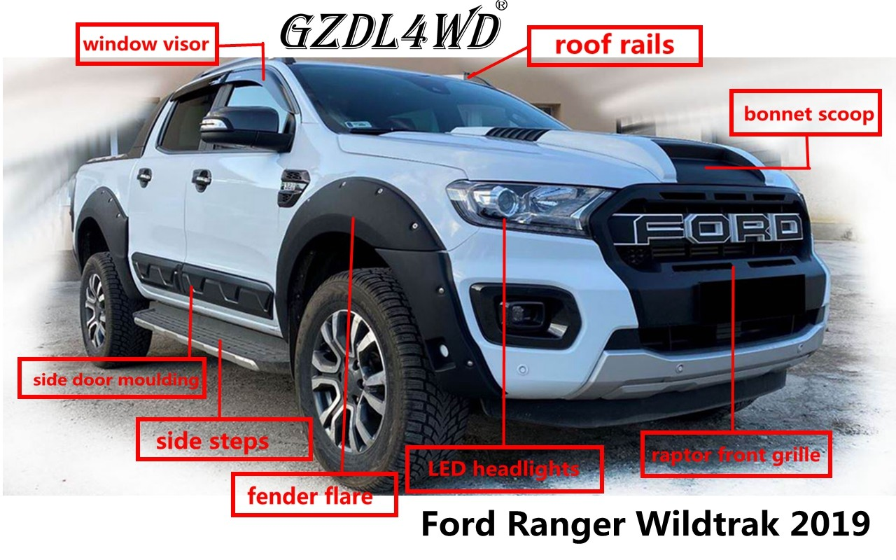 china latest news about Hot Sale 4x4 Accessories For Ford Ranger T8 XLT XLS Wildtrak 2019 2020