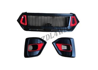 Hilux 2018 Grille TRD Style Front Grill Guard With Fog Lights Cover For Toyota Rocco supplier