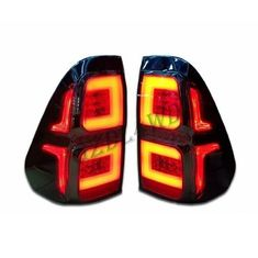 2019 Toyota Hilux Revo Rocco LED Smoked Black Tail Lights Hilux Accessories supplier