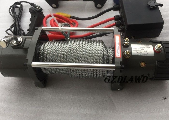China 12v Truck Heavy Duty Electric Winch 8.3mm Steel Wire 9500lbs For Off Road factory
