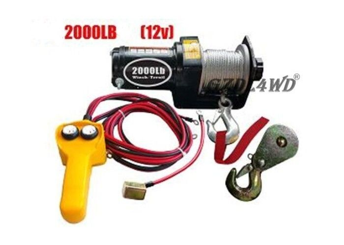 China 12V 2000LB Heavy Duty Electric Winch Truck With ATV Rope Wireless Remote factory