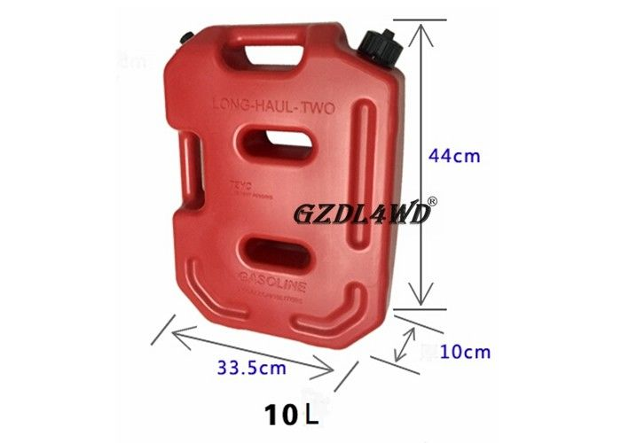 10 / 20 Liter Red Off Road Fuel Tank Easy To Carry / 4x4 Truck Parts