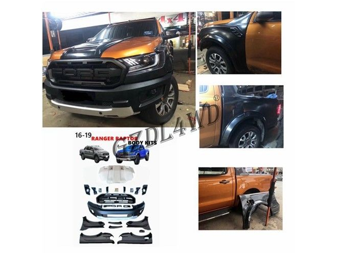 Plastic Front Bumper Raptor Conversion To 2018 Wide Body Kit For Ford Ranger T7