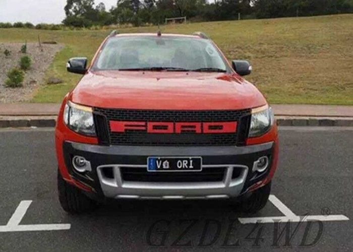 China ABS Material Front Grille Vent Grid Trim Set For Ford Ranger T6 XLt PX1 2011-2014 factory