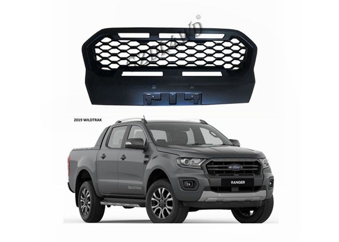 China Ford Ranger PX3 Wildtrak Front Grill Mesh Matte Black With FORD Letters factory