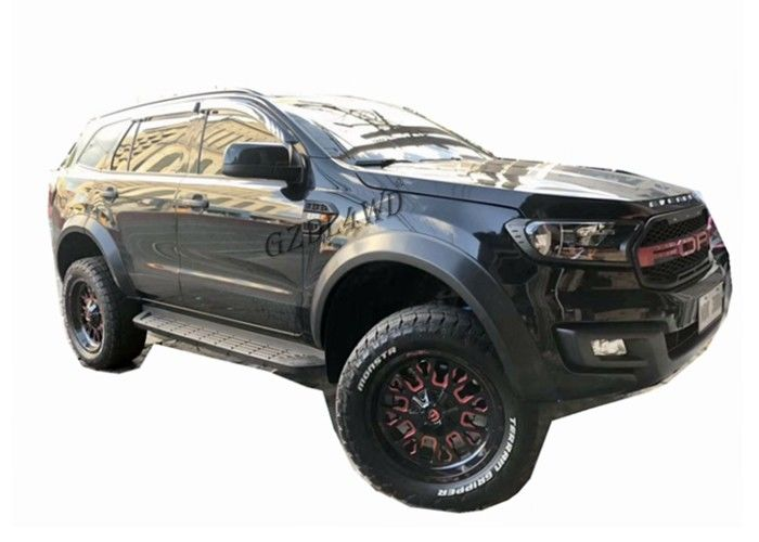 China 2016 2019 Ford Everest Slim Fender Flare Smooth Black Wheel Arch Flare factory