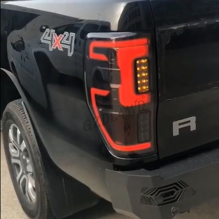 Ford Ranger LED Rear Tail Lights 4x4 Tail Lamps Smoked Black Ranger Back Lights