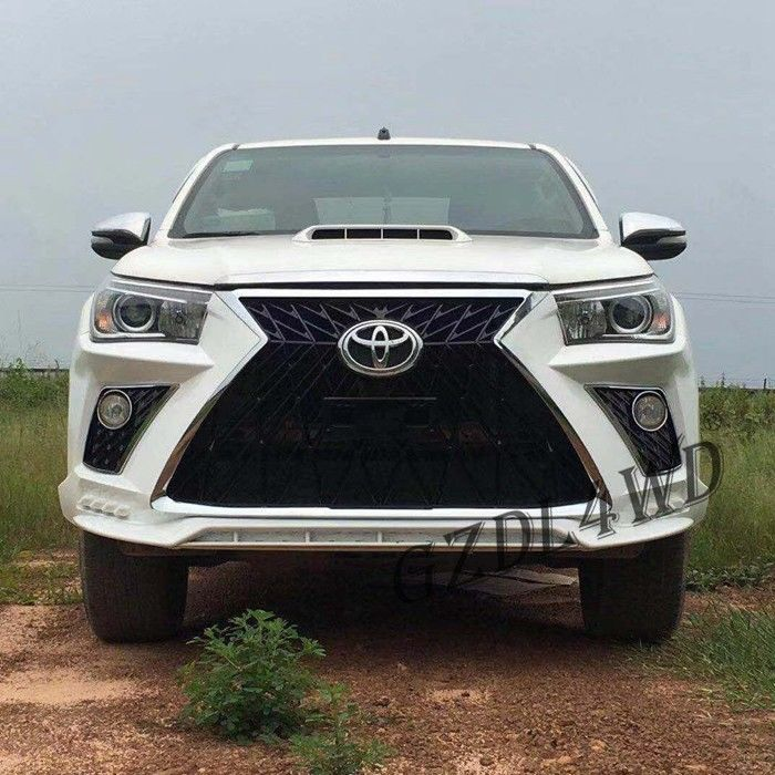 China Toyota Hilux Revo Rocco Auto Front Bumper Face Body Kits Upgrade To Lexus 570 factory