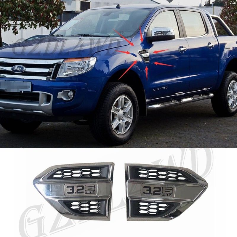 China Plastic Wind Port Cover Fender Side Air Outlet Air Flow Outlet Cover Trim For Ford Ranger factory