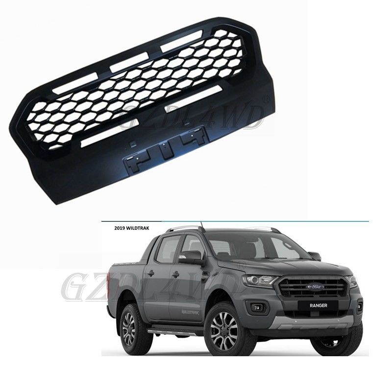 China Custom Logo ABS Mk3 Front Grill Mesh For Ford Ranger Wildtrack 2018 2019 factory