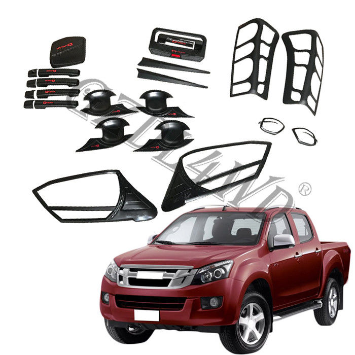 Decorative Head Lamp Cover 4x4 Body Kits For Isuzu Dmax 2012-2014