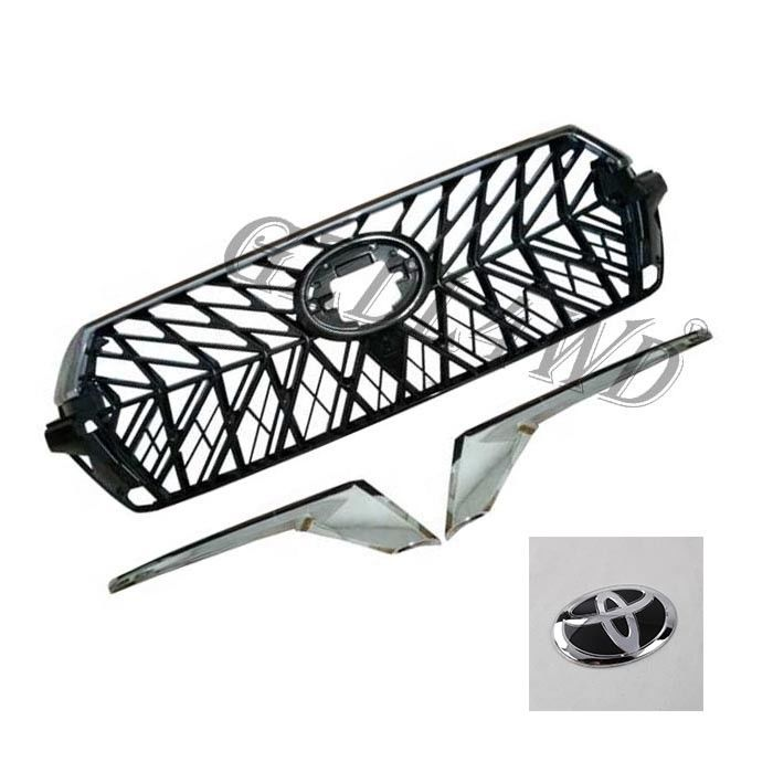 Chrome Adge Car Front Grill For Toyota Prado Fj200 2016-2018 OE Standard