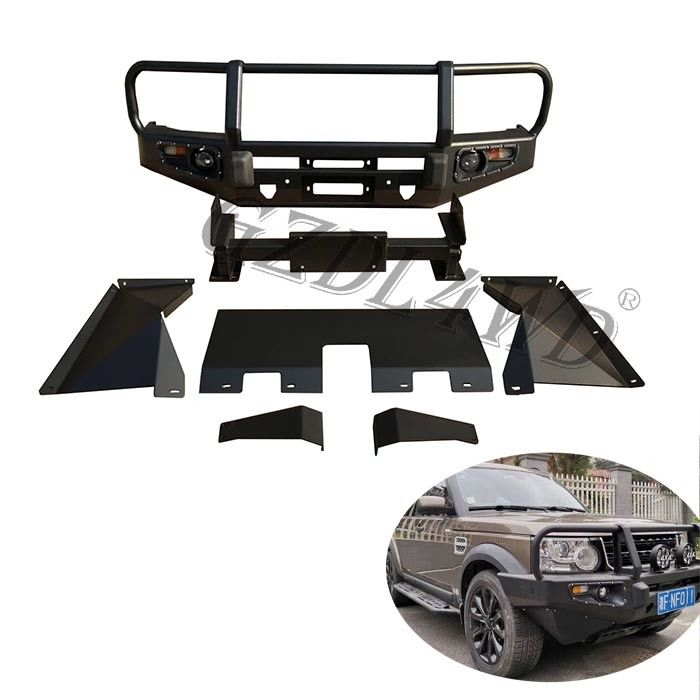 OEM Front Bumper Guard , Range Rover 2006-2009 Discovery 3 4 Bull Bar Front Bumper Skid Plate Kit