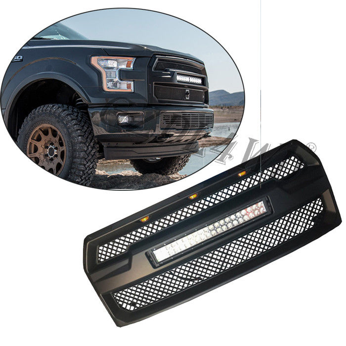 China Raptor Style Auto Front Grill Mesh with 120w LED Bar For Ford F150 2015-2017 factory