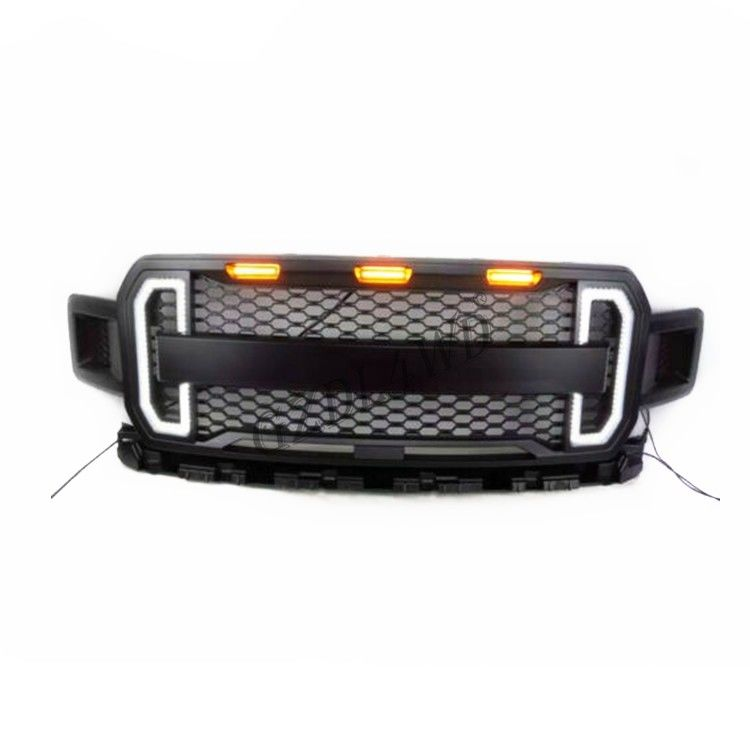 2018 2019 Ford Raptor F150 Mesh Grille With DRL Lights Netrual Packing