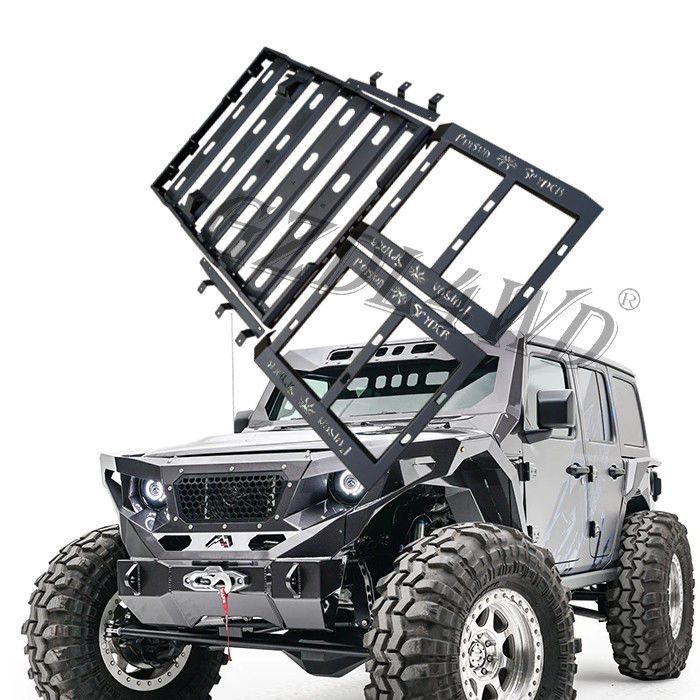 China Black Steel Roof Rack For Jeep Wrangler Jl Roof / Luggage Bar Carrier Roof Rack factory