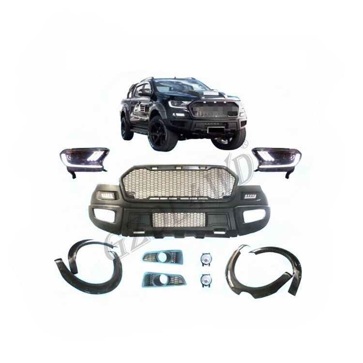 Ford Ranger Wildtrak Raptor Facelift Body Kits With LED Headlights