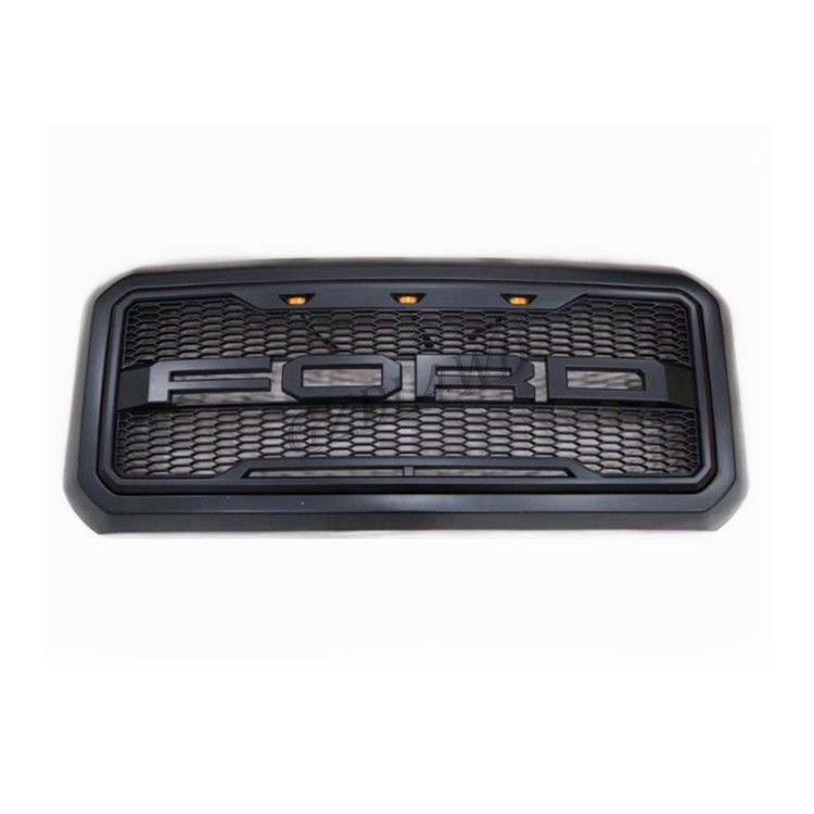 China Matte Black Front Grill Mesh For Ford F250 2011 2016 / Super Duty Raptor Grille factory