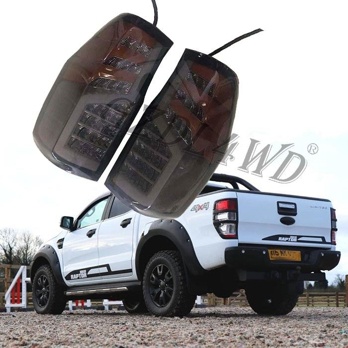 Black Dynamic Car Rear Light For Ford Ranger 2012-2019 / Led Tail Lamp