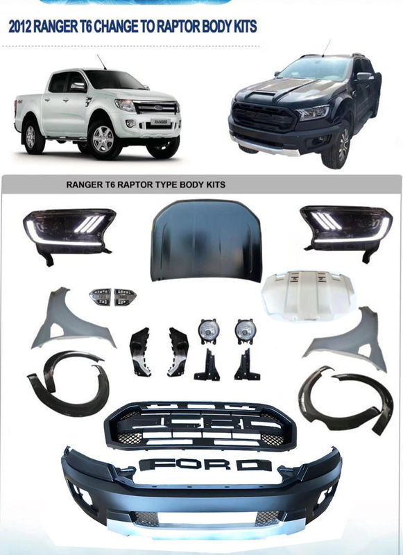 Facelift 4x4 Body Kits For  Ranger Raptor T6 T7 T8 PX PX2 PX3 2012+