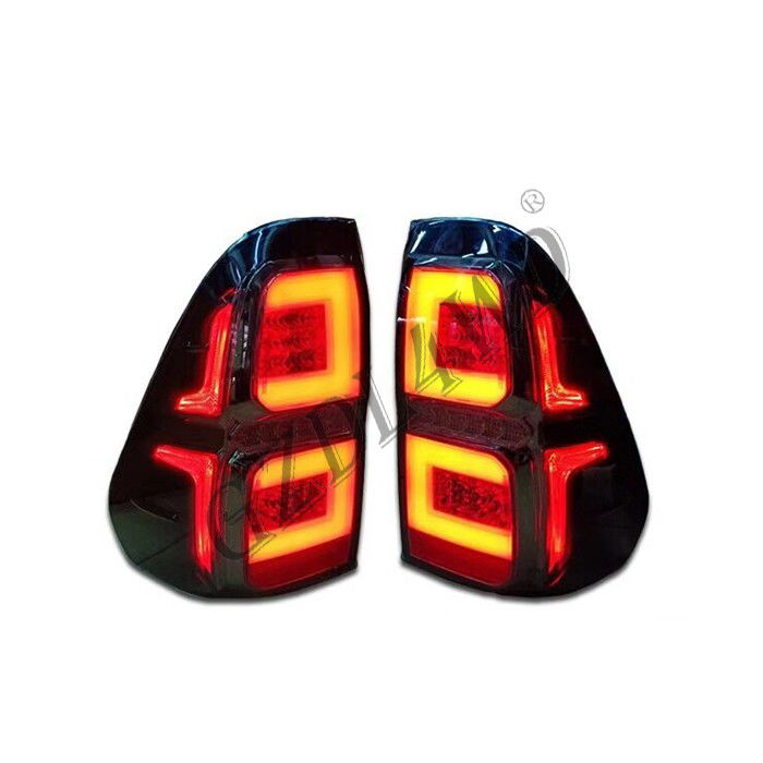 China Yellow And Red LED Dynamic Car Tail Lights For Hilux Revo 2015-2016 factory