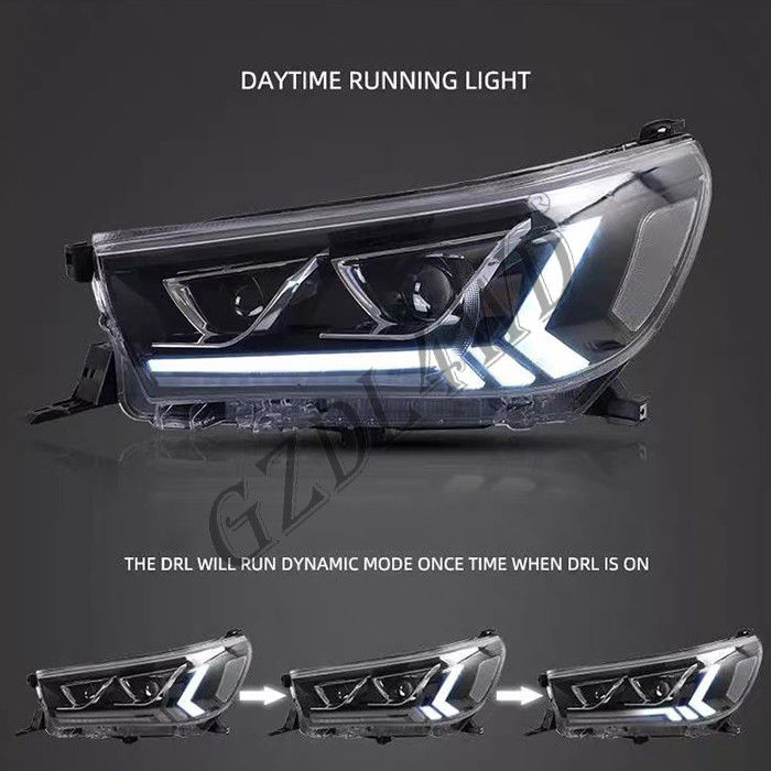 China Clear Lens 4x4 Driving Lights  ,  Toyota Hilux Revo Rocco 2015 LED DRL Projector Head Light factory