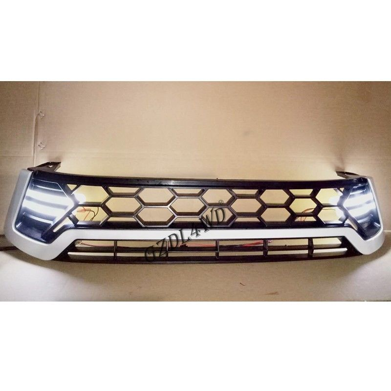 China With LED Front Grille Mesh  Pickup Accessories  Front grille For Toyota Revo 2015-2016 factory