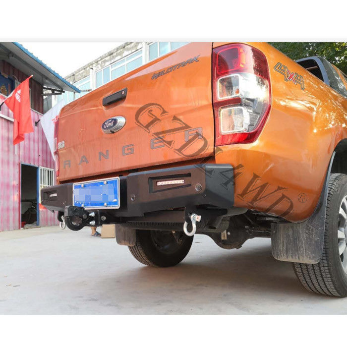 Powder Coated Heavy Duty Steel Rear Bumper Guard For Ford Ranger t7 2015+