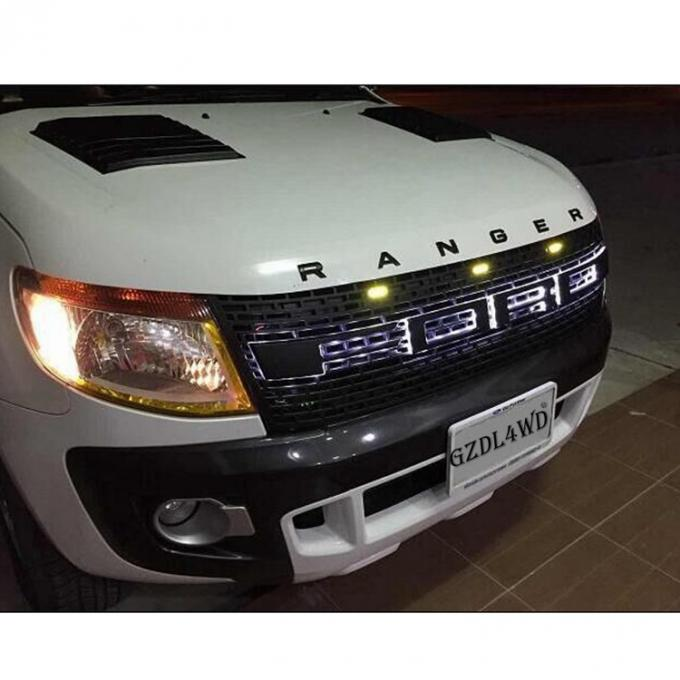 ABS Raptor Bumper Grille With LED For Ford Ranger T6 2012 2015 Ranger Body Kits 1
