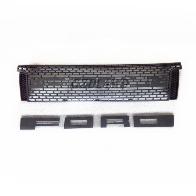 ABS Raptor Bumper Grille With LED For Ford Ranger T6 2012 2015 Ranger Body Kits 2