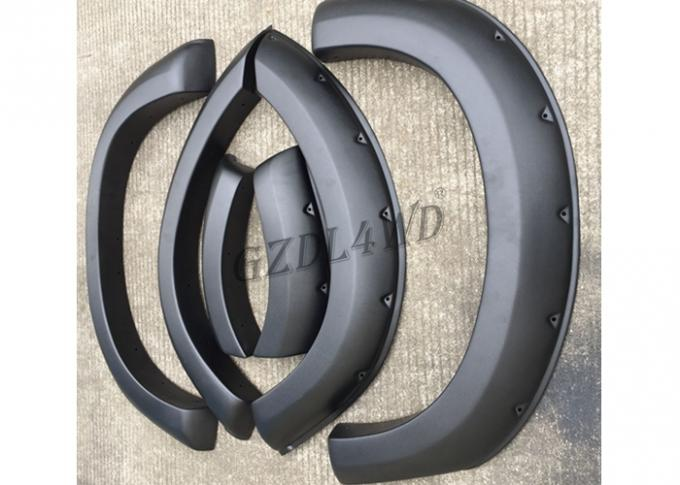 3.5mm Thickness Off Road Fender Flares Textured Black ABS Material For D-Max 2016-2018