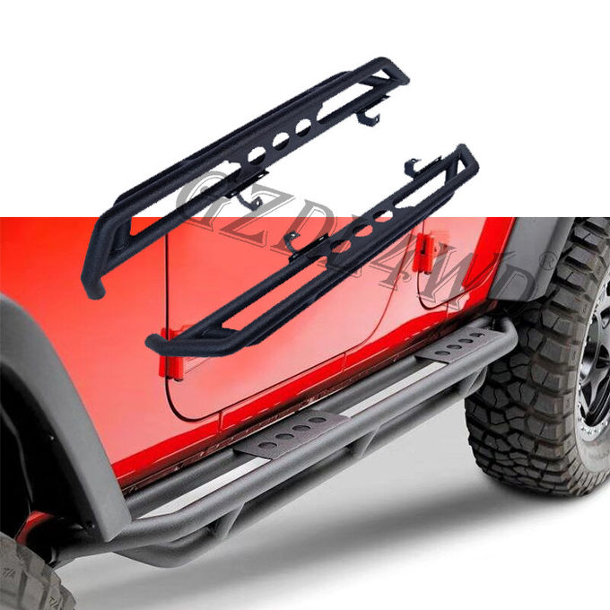 Durable 4x4 Body Kits , 2019 Wrangler JL 4 Doors Matted Dropped Side Step Bar Running Boards